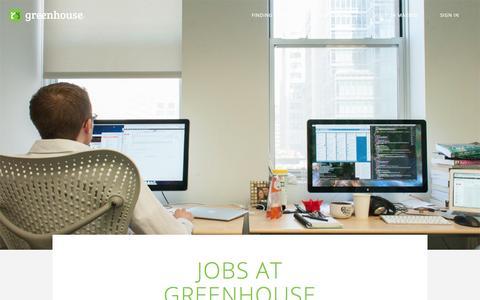 Screenshot of Jobs Page greenhouse.io - Careers   Greenhouse - captured Sept. 16, 2014