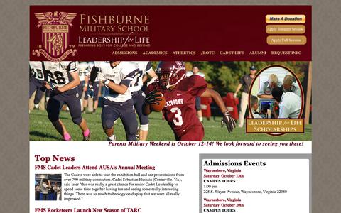 Screenshot of Home Page fishburne.org - Virginia's Oldest Military School for Boys - Boarding and Day - Summer School - JROTC - Fishburne.org : Fishburne Military School - captured Oct. 10, 2018
