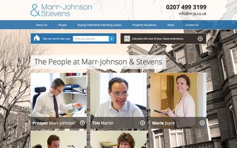 Screenshot of Team Page m-js.co.uk - Our People | Marr-Johnson & Stevens - captured Feb. 12, 2016