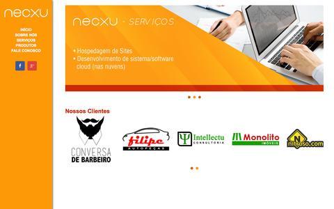 Screenshot of Home Page necxu.com.br - NECXU - captured Oct. 7, 2014