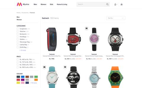 Screenshot of myntra.com - Fastrack - Exclusive Fastrack Online Store in India at Myntra - captured May 21, 2017