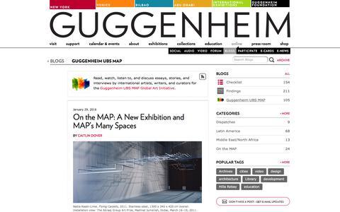 Screenshot of Blog guggenheim.org - Guggenheim UBS MAP - Guggenheim Blogs - captured Jan. 30, 2016