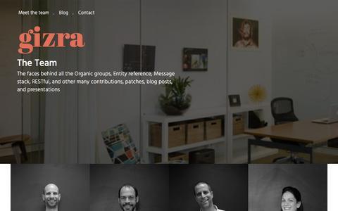 Screenshot of Team Page gizra.com - Team | Gizra - captured Jan. 22, 2016