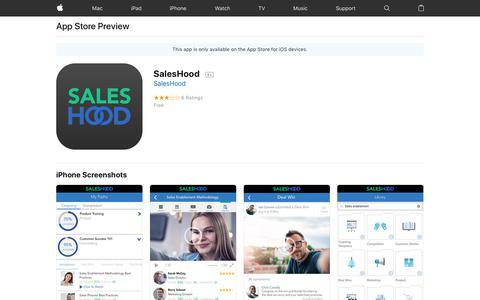 SalesHood on the AppStore