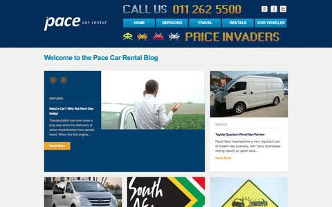Screenshot of Blog pacecarrental.co.za - Pace Car Rental | Long Term Car Hire in JohannesburgPace Car Rental - captured May 20, 2017