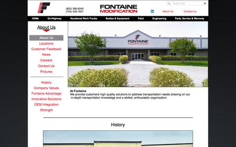 Screenshot of About Page fontainemodification.com - Fontaine About Us - captured Aug. 19, 2018