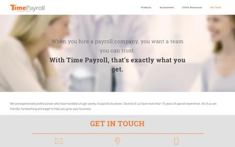 Screenshot of About Page timepayroll.com - Time Payroll - captured Oct. 7, 2014