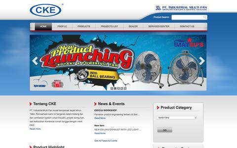 Screenshot of Home Page cke.co.id - CKE, Multi Fan - captured Feb. 4, 2016