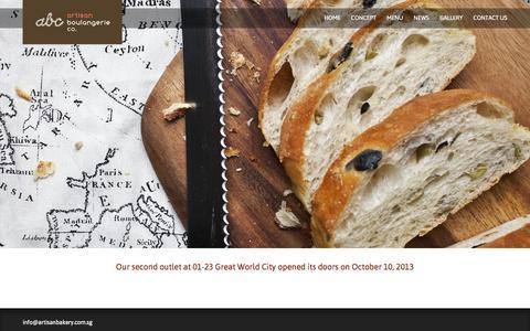 Screenshot of Press Page artisanbakery.com.sg - Artisan Boulangerie   –  News Old - captured Oct. 4, 2014