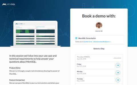 Book a MemSQL Demo