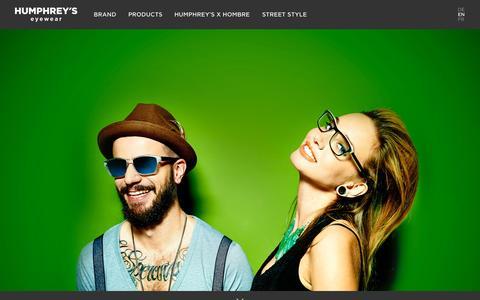 Screenshot of Home Page humphreys-eyewear.com - HUMPHREY'S Eyewear - Individuell und unverwechselbar - captured Sept. 11, 2015