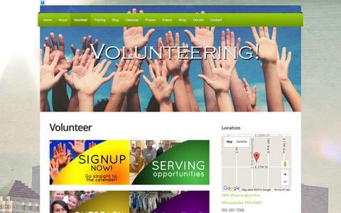 Screenshot of Signup Page breakthroughmn.org - Volunteer   Breakthrough Ministries - captured Feb. 8, 2016