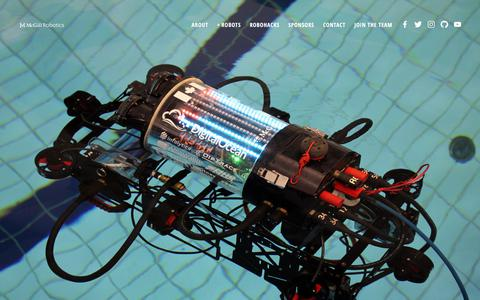 Screenshot of Home Page mcgillrobotics.com - McGill Robotics - captured Sept. 20, 2018