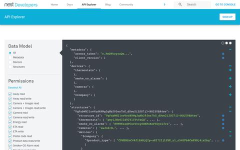 Screenshot of Developers Page nest.com - Nest Developers - captured Jan. 14, 2018