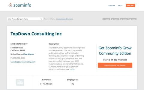 TopDown Consulting Inc | ZoomInfo.com