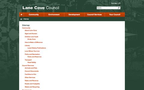 Screenshot of Site Map Page nsw.gov.au - Sitemap - captured Oct. 10, 2014