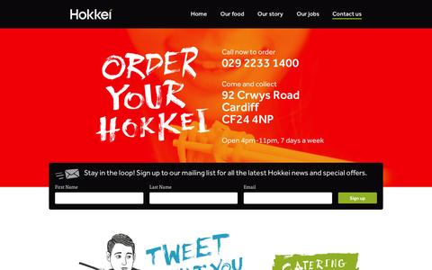 Screenshot of Contact Page hokkei.co.uk - Contact Hokkei - captured Nov. 18, 2015