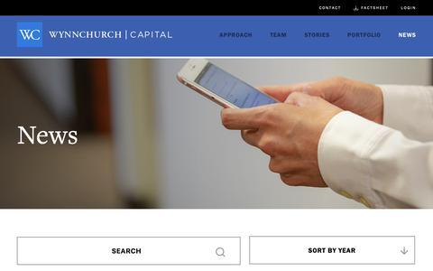 Screenshot of Press Page wynnchurch.com - News | Wynnchurch Capital - captured Oct. 18, 2018