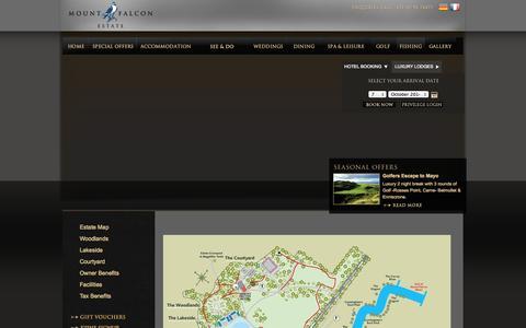 Screenshot of Maps & Directions Page mountfalcon.com - Luxury 4 Star Hotel Mayo, Mount Falcon Estate, Mayo Hotels, Hotels Mayo - captured Oct. 7, 2014