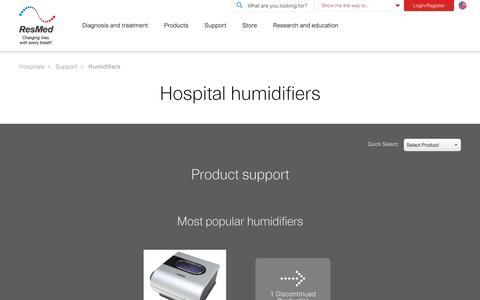 Sleep Apnea Patient Support Humidifiers | ResMed