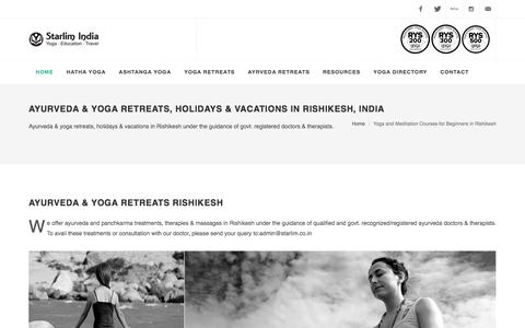 Ayurveda & Yoga Retreats, Holidays & Vacations In Rishikesh, India