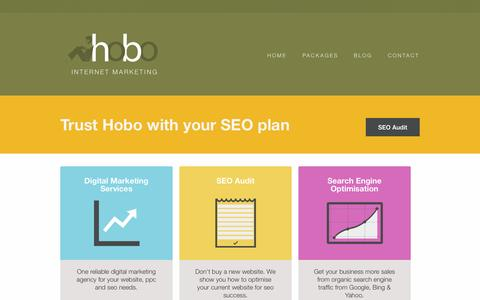Screenshot of Services Page hobo-web.co.uk - Professional Internet Marketing Services for Small Businesses - captured Sept. 18, 2014