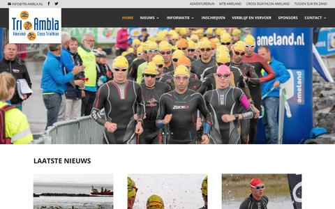Screenshot of Home Page tri-ambla.nl - HOME | TRI-AMBLA - captured March 3, 2018