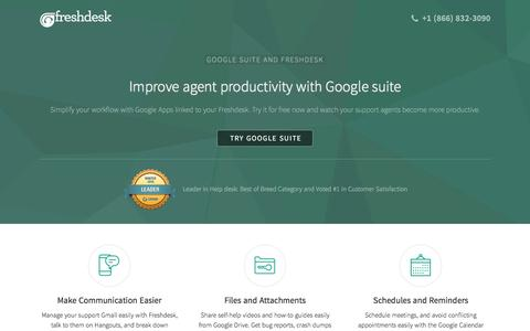 Freshdesk - Google Apps for Work integration