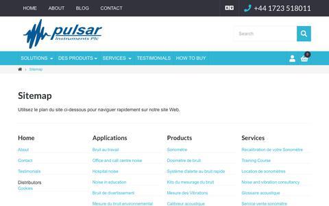Screenshot of Site Map Page pulsarinstruments.com - Plan du site | Pulsar Instruments Plc - captured Oct. 24, 2018