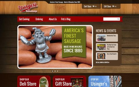 Screenshot of Home Page usinger.com - Usinger's Home Page - captured Oct. 6, 2014