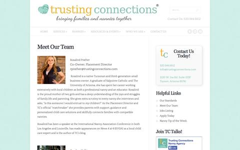 Screenshot of Team Page trustingconnections.com - Meet Our Team - Trusting Connections | Trusting Connections - captured Oct. 9, 2014