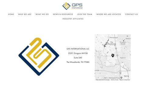Screenshot of Locations Page gpsinc.com - Locations — GPS International - captured Oct. 21, 2018