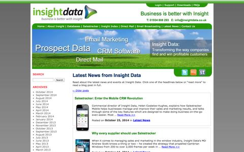 Screenshot of Press Page insightdata.co.uk - Insight Data News | The latest news from Insight Data - captured Oct. 27, 2014