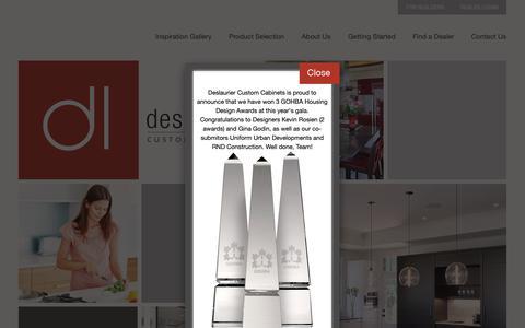 Screenshot of Home Page deslaurier.ca - Deslaurier Custom Cabinets   Ottawa Kitchens   Kitchen Design   Bathrooms - captured Nov. 13, 2018