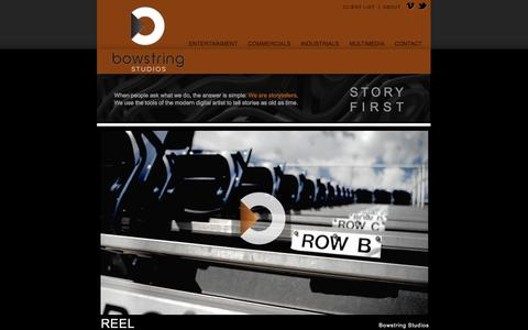 Screenshot of Home Page bowstring.tv - bowstring studios  |  Home - captured Oct. 4, 2014