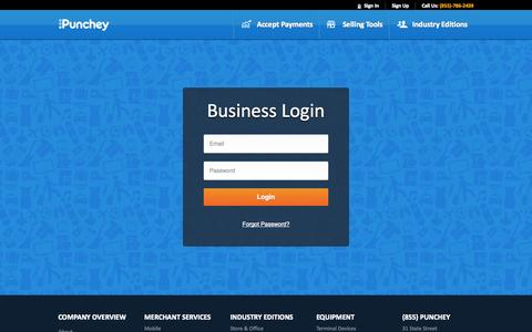Screenshot of Login Page punchey.com captured Oct. 28, 2014