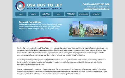 Screenshot of Terms Page usabuytolet.com - Terms & Conditions | USA - Buy to Let - captured Sept. 30, 2014