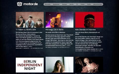 Screenshot of Blog motor.de - motor.de – Alternative Musikpropaganda - captured Oct. 26, 2014