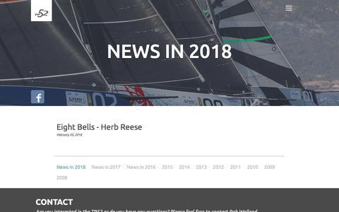 Screenshot of Press Page transpac52.org - Transpac 52 | News in 2018 - captured Feb. 22, 2018