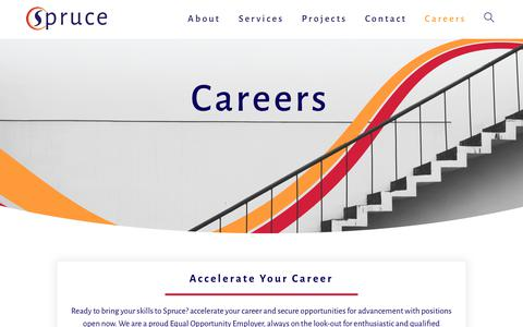Screenshot of Jobs Page sprucetech.com - Careers - Spruce Technology, Inc. - captured March 15, 2019