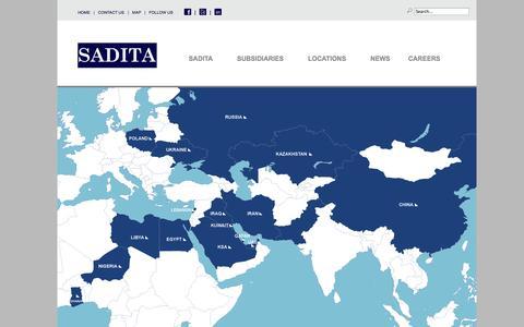 Screenshot of Maps & Directions Page sadita.net - MAP| - Sadita - captured Oct. 3, 2014