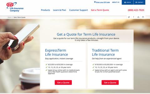 Get a Life Insurance Quote - AAA Life Insurance Company