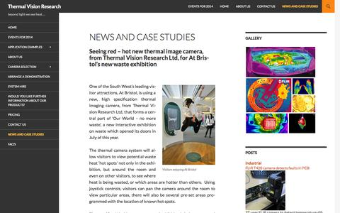 Screenshot of Case Studies Page thermalvisionresearch.co.uk - News and case studies | Thermal Vision Research - captured Sept. 30, 2014
