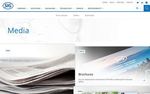Screenshot of Press Page sig.biz - Media - captured Nov. 9, 2018
