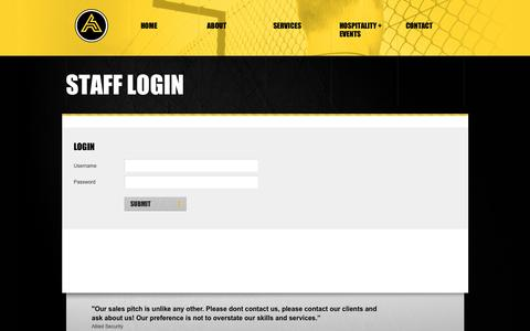 Screenshot of Login Page alliedsecurity.co.nz - Security Services Nationwide   - captured Dec. 24, 2015