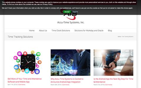 Screenshot of Blog accu-time.com - time tracking solutions for workforce management, payroll and Time and Attendance Software vendors - captured June 7, 2018