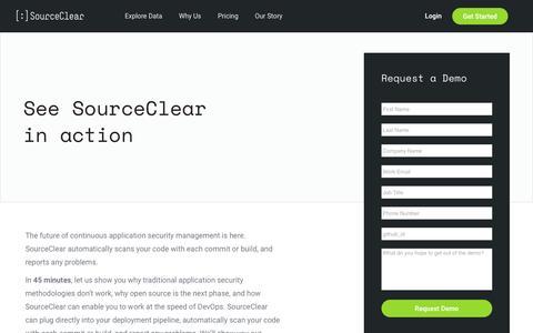 SourceClear: Schedule a Demo