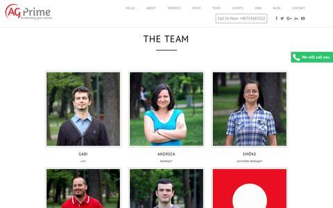 Screenshot of Team Page ag-prime.com - The Team | AG Prime - captured July 23, 2016