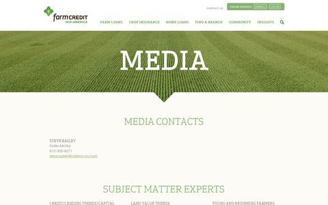 Screenshot of Press Page e-farmcredit.com - Media Information | Farm Credit Mid-America - captured May 8, 2017