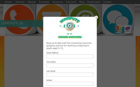 Screenshot of Contact Page icompute-uk.com - Contact iCompute - captured Oct. 13, 2018